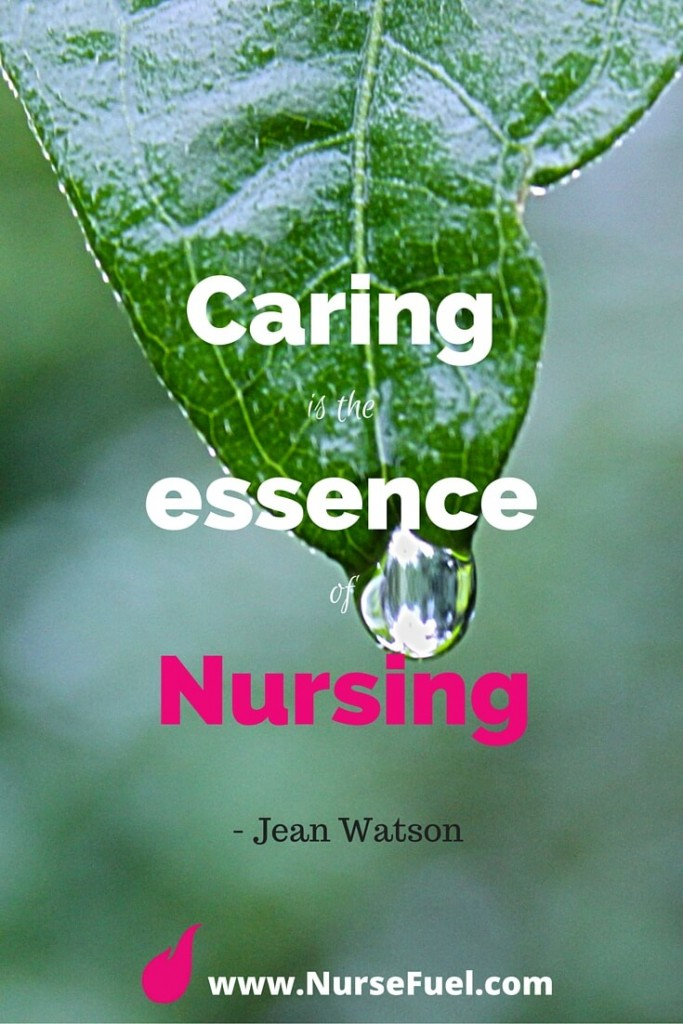 Caring is the essence of nursing - http://www.NurseFuel.com