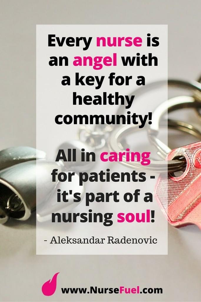 Every nurse is an angel with a key - http://www.NurseFuel.com