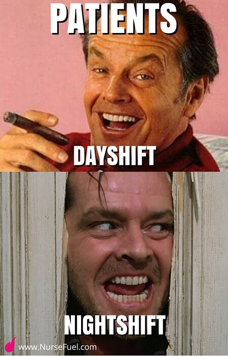 patients dayshift vs nightshift - http://www.NurseFuel.com