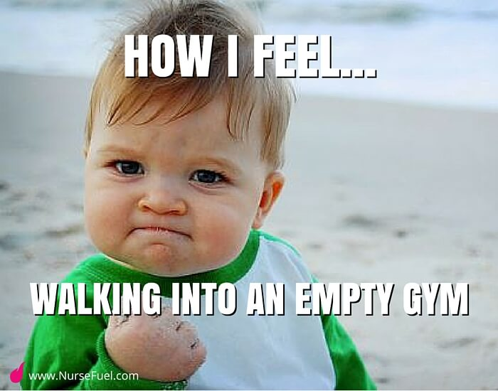 empty gym success - http://www.NurseFuel.com