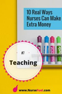 Earn extra money - teaching - http://www.NurseFuel.com